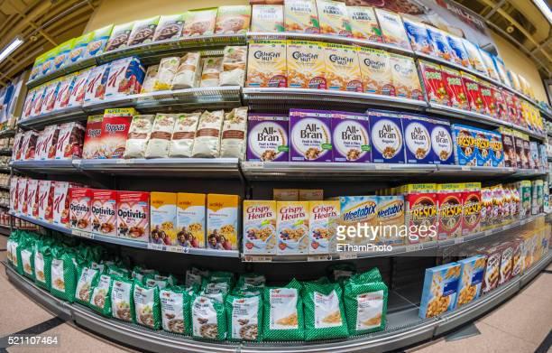 Loaded supermarket shelf