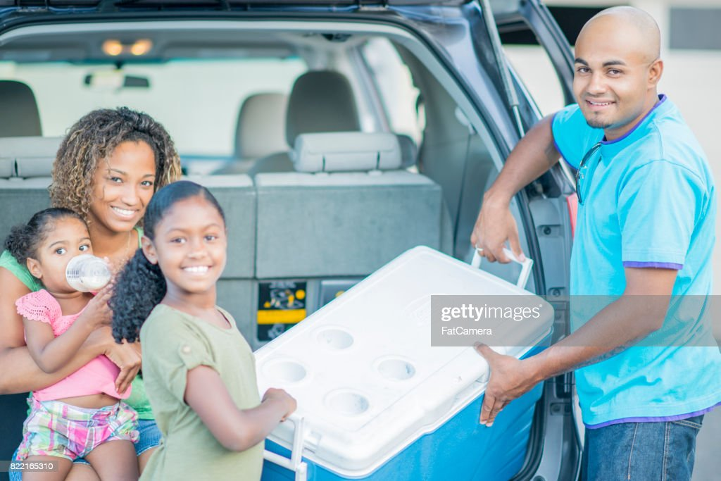 Loading A Cooler : Stock Photo