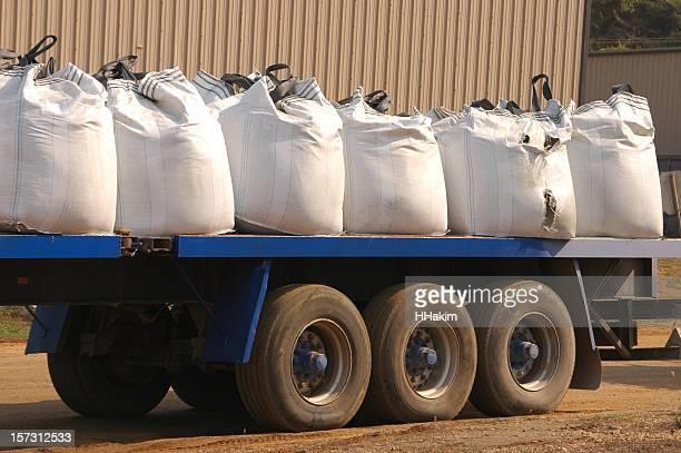 Loading chemical sacks