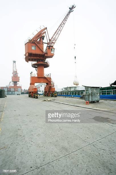 Loading crane in shipyard