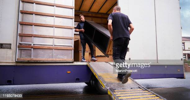 loading removal truck - absence stock pictures, royalty-free photos & images