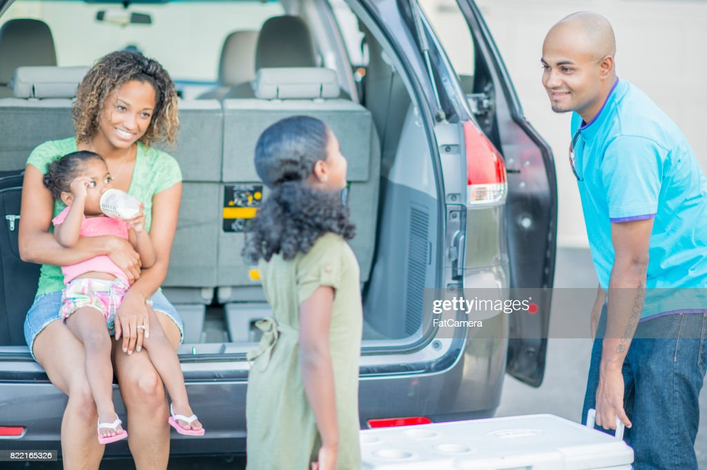 Loading The Trunk : Stock Photo