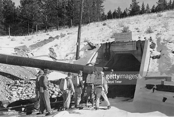 NOV 2 1949 Loadvilie Drainage tunnel A virtual tomb for Leadville's mining hopes since the end of World war II the huge Leadville drainage tunnel...