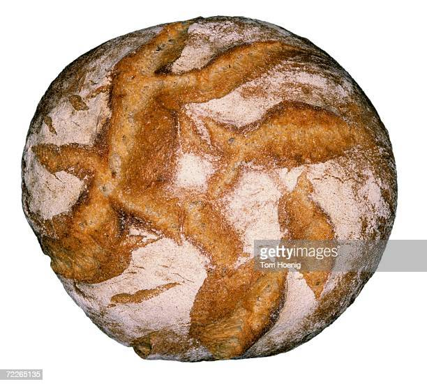 Loaf of bread, close-up, elevated view