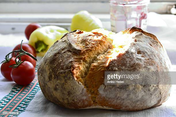 loaf of bread - aniko hobel stock pictures, royalty-free photos & images