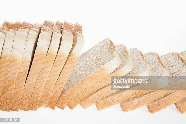 A loaf of sliced white bread