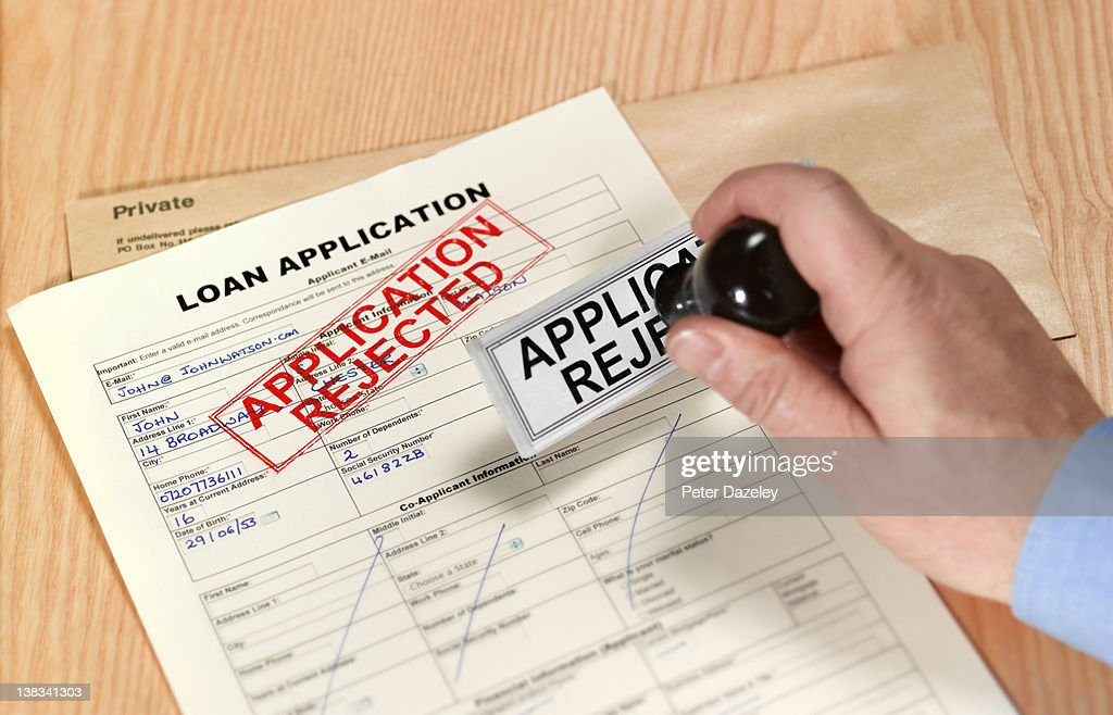 Loan application rejected : Stock Photo