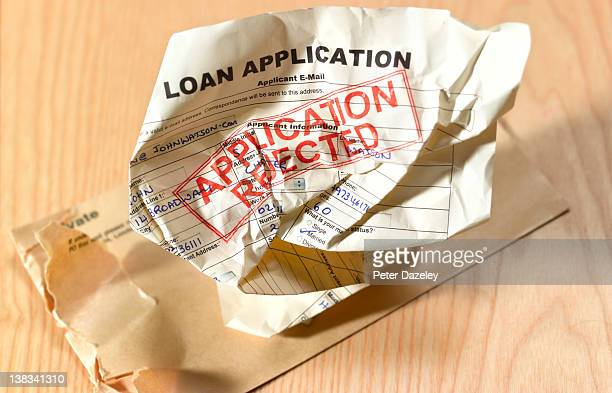 Loan application rejection