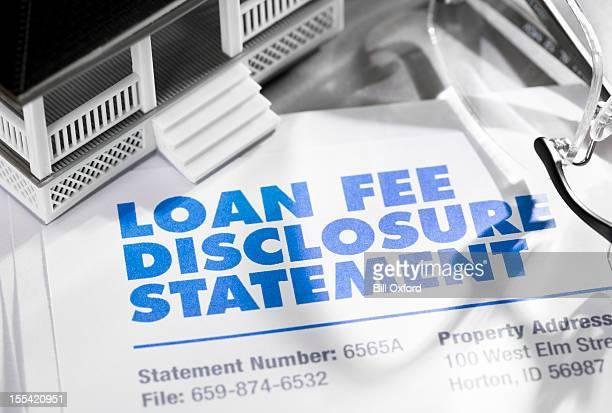 Loan Fee Discloosure