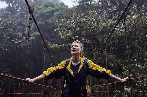 Loan Female Traveller Walking Exploring Nature - gettyimageskorea