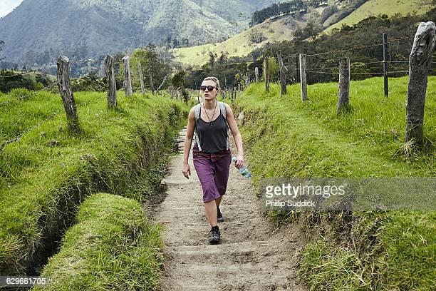 Loan Female Traveller Walking Exploring Nature