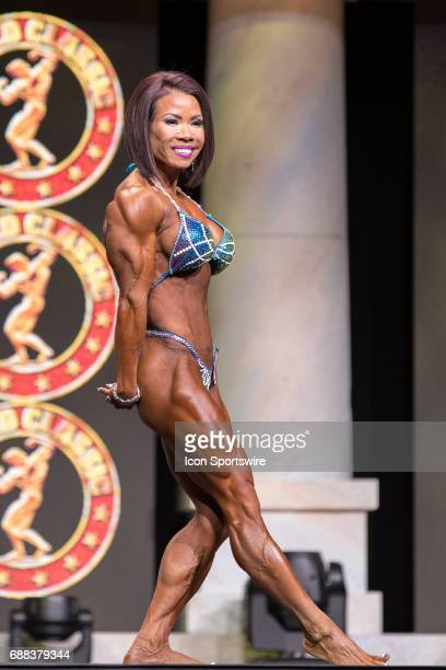 Loan Leonard competes in Women's Physique International as part of the Arnold Sports Festival on March 3 at the Greater Columbus Convention Center in...