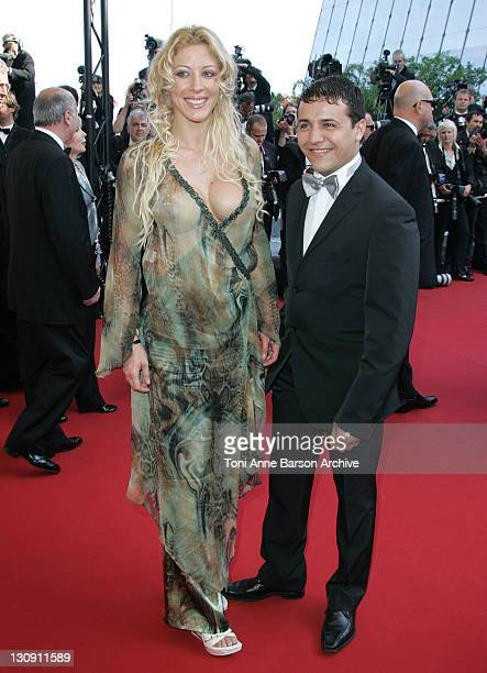 Loana and Faudel during 2005 Cannes Film Festival 'The Three Burials of Melquiades Estrada' Premiere at Palais de Festival in Cannes France