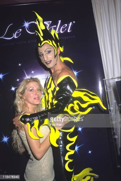 Loana and Queen Demeter during Delicious Party 'The Valet By Arrogance' Table Bag Hook Launch at La Suite Club in Paris France