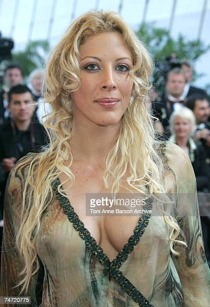 Loana at the Palais de Festival in Cannes France