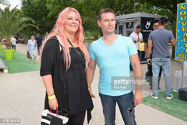 Loana Petrucciani and Fred Cauvin attend 'Fete des Tuileries' Launch Party To Benefit Meghanora Association on June 26 2015 in Paris France