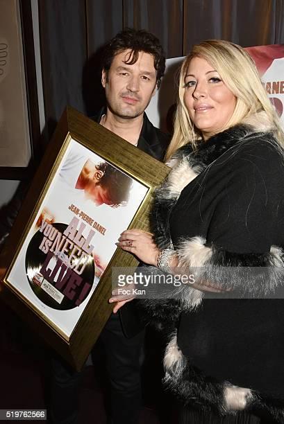 Loana Petrucciani and Golden disc awarded Jean Pierre Danel attend 'Guitar Tribute' by Golden disc awarded Jean Pierre Danel at Hotel Burgundy on...