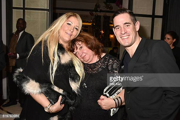 Loana Petrucciani and her mother VioletteÊand Giovanni Crochet Leducq attend 'Guitar Tribute' by Golden disc awarded Jean Pierre Danel at Hotel...