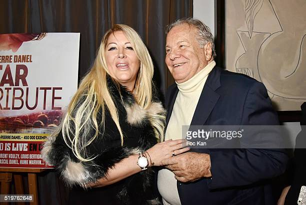 Loana Petrucciani and Massimo Gargia attend 'Guitar Tribute' by Golden disc awarded Jean Pierre Danel at Hotel Burgundy on April 7 2015 in Paris...