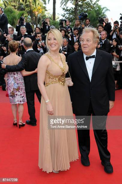 Loana Petrucciani and Massimo Gargia attend the Vengence Premiere at the Grand Theatre Lumiere during the 62nd Annual Cannes Film Festival on May 17...