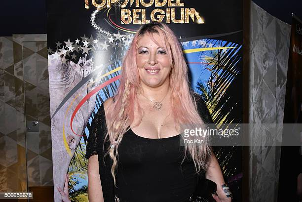 Loana Petrucciani from Loft Story 1 attends the 'Top Model Belgium 2016' Ceremony at Le Lido on January 24 2016 in Paris France