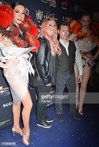 Loana Petrucciani from The Loft 1 TV reality and boyfriend Fred Cauvin attend the Top Model Belgium 2015 Finale At Le Lido on May 10 2015 in Paris...