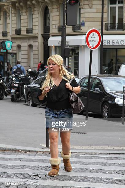 Loana Petrucciani is seen strolling on 'Avenue George V' on September 12 2012 in Paris France