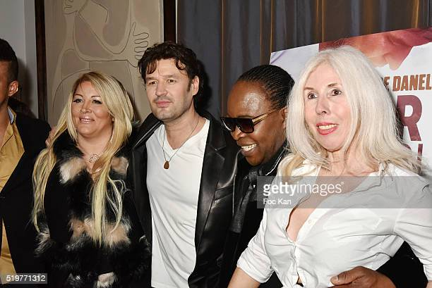 Loana Petrucciani Jean Pierre Danel Billy Obam and Veronique Koch attend 'Guitar Tribute' by Golden disc awarded Jean Pierre Danel at Hotel Burgundy...