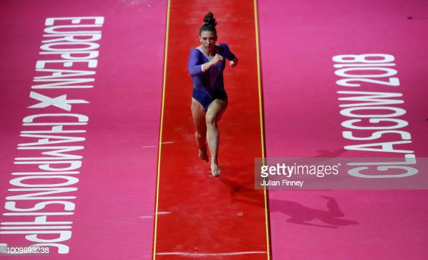 Loanna Xoulogi of Greece competes on the vault during Rotation 2 of the Team Women event qualification subdivision 3 during the Team Women during the...