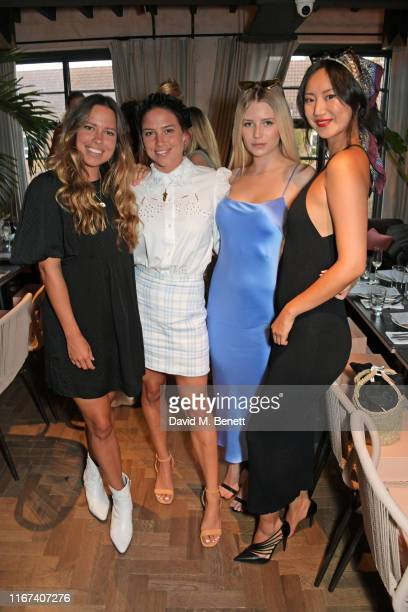 Loanne Collyer Jordan Collyer Tessa Maye and Betty Bachz attend the BEC BRIDGE Resort 20 Collection launch at Gold Notting Hill on September 11 2019...