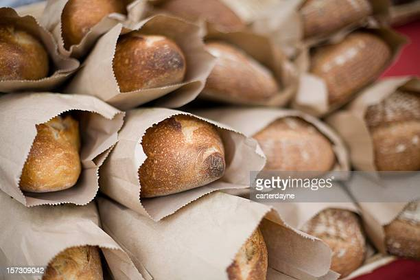 Loaves of fresh bread