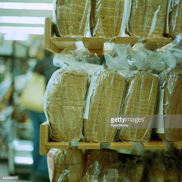 Loaves of Packaged Bread