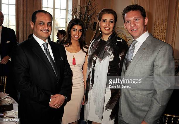 Loay Al Kharafi Fay Al Kharafi Heba Al Kharafi and Nick Candy attend the launch of One Hyde Park The Residences at Mandarin Oriental London on...