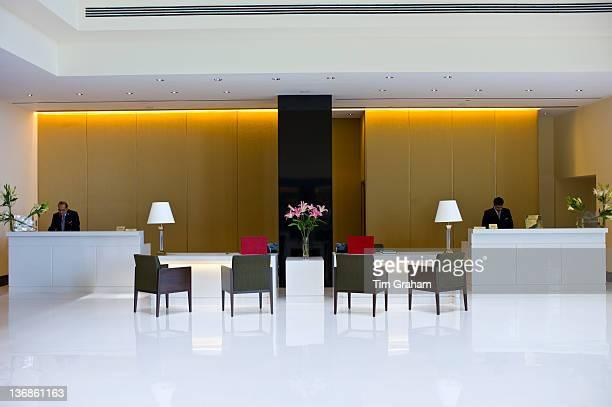 Lobby and Reception area in the 5star Oberoi Mumbai Hotel at Nariman Point Mumbai formerly Bombay Maharashtra India