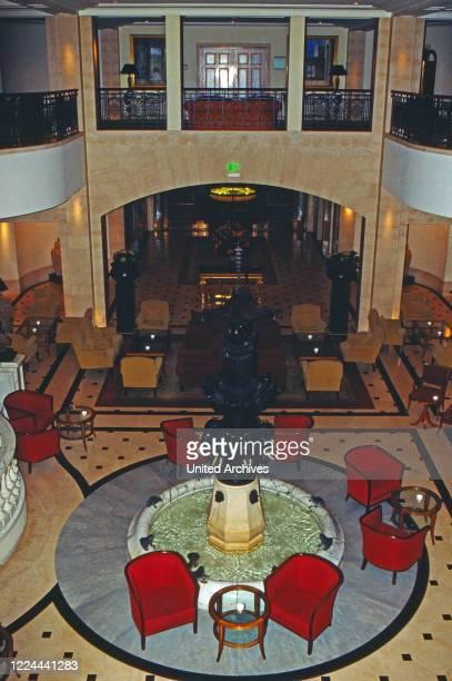 Lobby at Adlon Hotel in Berlin, Germany, 2002.