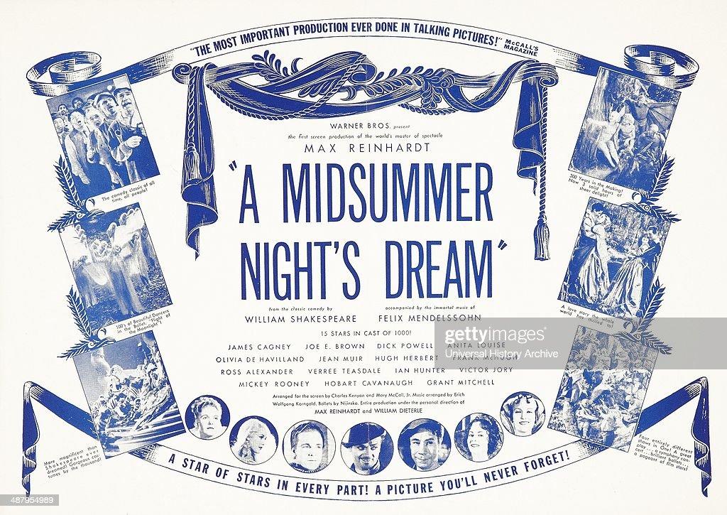 Lobby card for Max Reinhardt's 'A Midsummer Night's Dream' . A ...