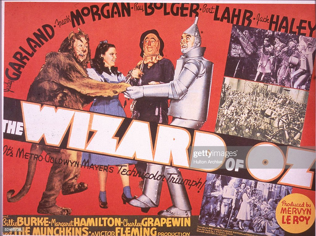 Lobby Card For 'The Wizard Of Oz' : News Photo