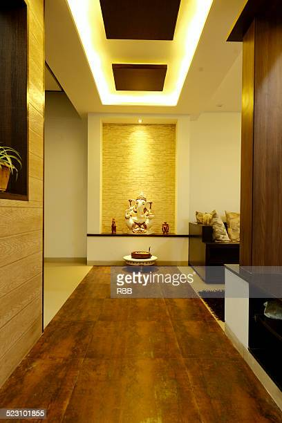 lobby of a bunglow - hindu god stock photos and pictures