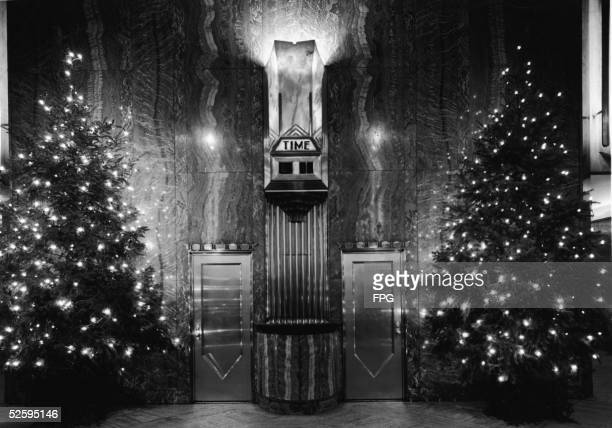 Lobby Of Chrysler Building With Trees