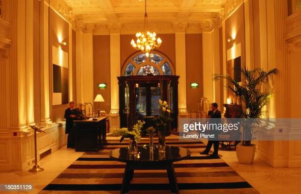lobby of the balmoral hotel. - balmoral hotel stock photos and pictures