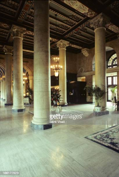 Lobby of the Biltmore Hotel by Schultze and Weaver on January 29 1993 in Coral Gables Florida Photo by Santi Visalli/Getty Images}