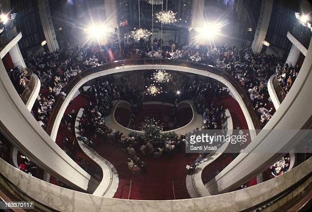 Lobby of the Metropolitan Opera House at the Opening Night on September 24 1979 in New York New York