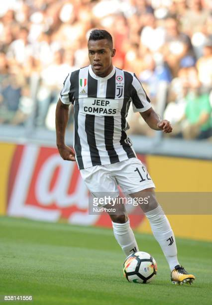 Lobo Silva Alex Sandro of Juventus during the Italian Football Championships Serie A 20172018 match between FC Juventus and Cagliari Calcio at...