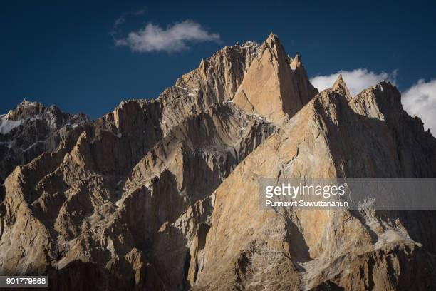 Lobsang spire mountain peak, one of highest granite peak in Karakoram range, K2 trek, Pakistan