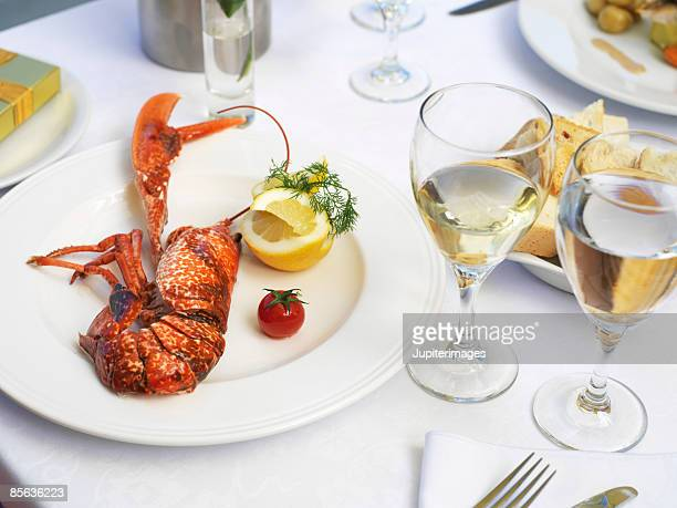 Lobster and white wine