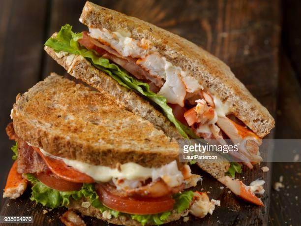 lobster, blt sandwich - club sandwich stock pictures, royalty-free photos & images