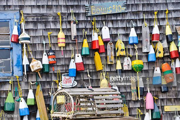 lobster bouys for sale - wareham stock photos and pictures