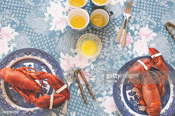 lobster dinner - nova scotia stock pictures, royalty-free photos & images
