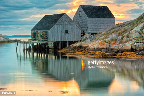 lobster house - nova scotia stock pictures, royalty-free photos & images