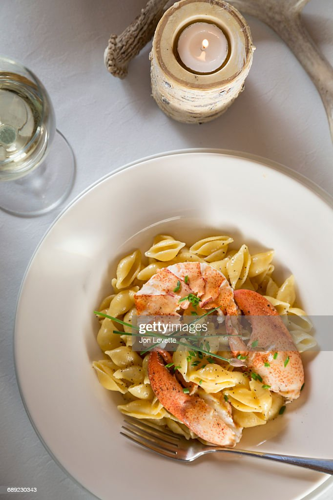 Lobster Mac and  Cheese : Stock Photo